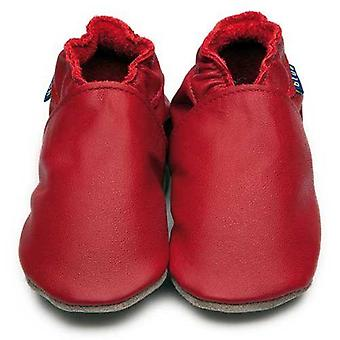 Baby shoes plain red - inch blue
