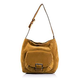 FIRENZE ARTEGIANI. Real leather woman bag. Gamuza authentic leather shoulder bag. Large front pocket. MADE IN ITALY. REAL ITALIAN SKIN. 38 x 29 x 16 cm. Color: Leather