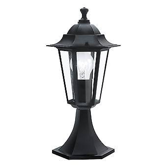 Eglo Laterna 4 - 1 Light Outdoor Pedestal Light Black IP44 - EG22472