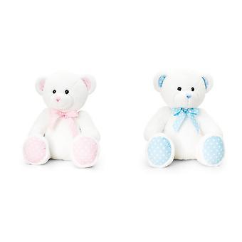 Køl legetøj 25cm Baby plettet Bear hvid
