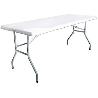Milestone Heavy Duty Blow Mould Foldable Steel Camping Table White