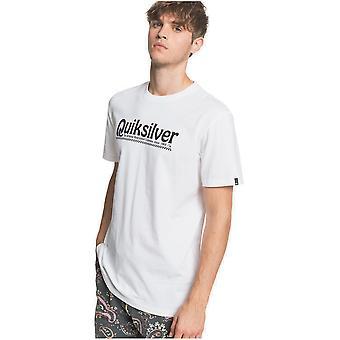 quiksilver ny slang kortermet t-skjorte i hvitt