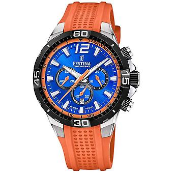 Festina Chrono Bike 2020 Blå Dial Orange Strap F20523/6 Watch