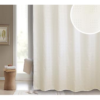 Sophia Cream Polyester Shower Curtain 180 x 180cm