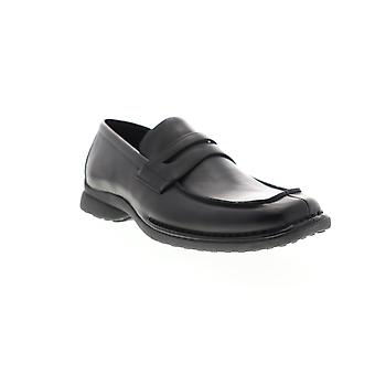 Unlisted by Kenneth Cole Bon Fire Mens Black Wide Dress Slip On Loafers Shoes
