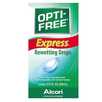 Opti-free express rewetting drops, 0.66 oz