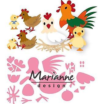 Марианна Дизайн Коллекционирования Резка умирает - Eline-apos;s Куриные семьи COL1429