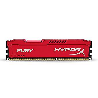 HyperX HX316C10FR/4 Fury 4 GB, 1600 MHz, DDR3, CL10, UDIMM, 1.35V, Red