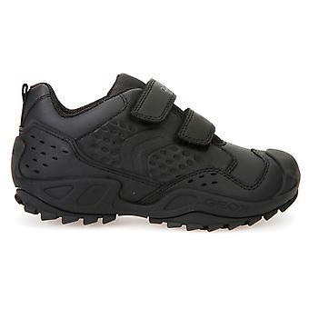 Ragazzi di Geox Savage J641VE scuola scarpe nere