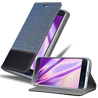 Cas Cadorabo pour la couverture de cas Asus ZenFone 3 - étui de téléphone mobile avec fermoir magnétique, fonction de stand et compartiment de carte - Cas de couverture de cas de couverture de cas De cas De pliage style