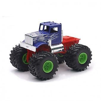 1:43 skala pressgjuten monstertruck, blå lastbil