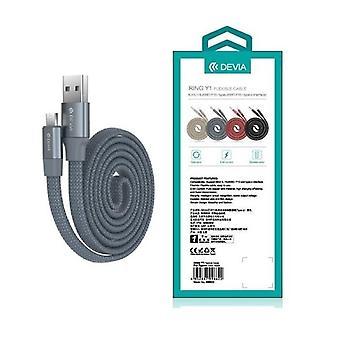 DEVIA 2.4 Amp RING-Y1 MicroUSB Kabel För Smartphones
