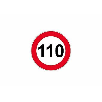 Stick sticker signage plate door speed limit sign 110