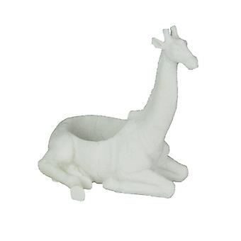 White Sand Finish Giraffe Decorative Bowl 7 Inch