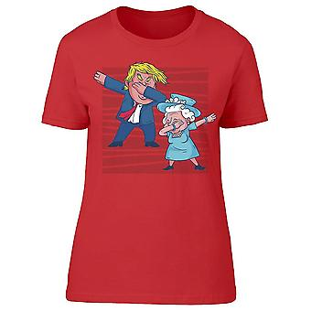 Trump And Queen Elizabeth Dab Women's T-shirt