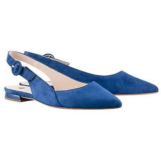 Hogl cheery blue low heels womens blue