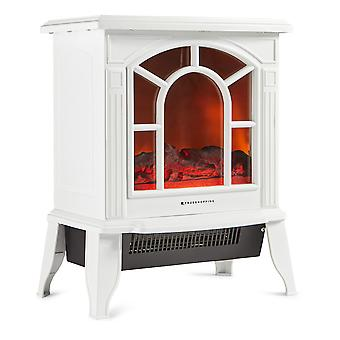 Electric Freestanding Fireplace Stove Heater 1800W Wood Log Burning Effect