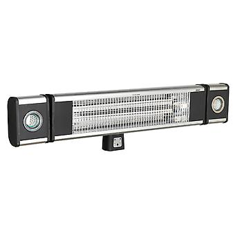 Sealey Iwmh1809Lr High Efficiency Carbon Fibre Infrared Wall Heater 1800W/230V