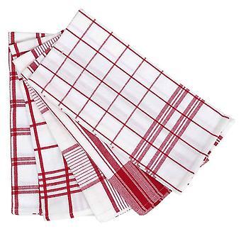 5 Pack Tea Towel 50x70cm Vermelho