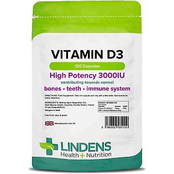 Lindens D3-vitamiini 3000IU Kapselit 120 (1110)