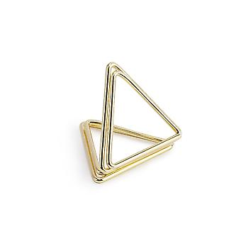 10 Gold Geometric Triangle Wedding Place Card Holders