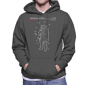 NASA Orlan Spacesuit Blueprint Men's Hooded Sweatshirt