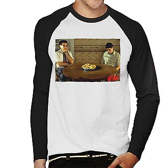 American Pie On The Table Men's Baseball Long Sleeved T-Shirt