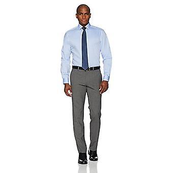KNAPPET NED menn's Klassisk Passform Spredning Krage Solid Non-Iron Dress Skjorte (Ingen ...
