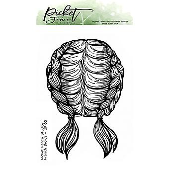 Picket Fence Studios French Braids Clear Stamps