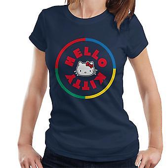 Hello Kitty Monivärinen Circle Naisten's T-paita