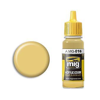 Ammo by Mig Acrylic Paint - A.MIG-0016 RAL 8020 Gelbbraun (17ml)