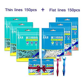 Replaceable Dental Floss Super Fiber Flat Wire And Soft Floss Hilo Dental Teeth Sticks Oral Care Hygiene Toothpick