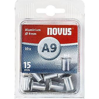 Novus 045-0043 Blind klinknagel moer (Ø x L) 9 mm x 15 mm M6 Aluminium Aluminium 10 PC('s)