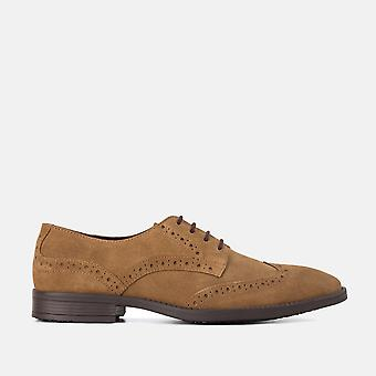 Harris chestnut suede brogue