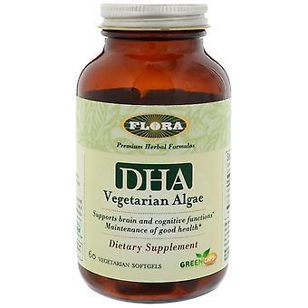 Flora, Algues végétariennes DHA, 60 Softgels végétariens