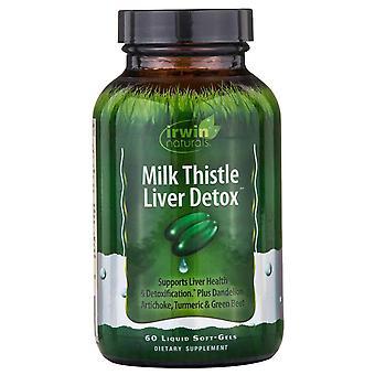 Irwin Naturals, Milk Thistle Liver Detox, 60 Liquid Soft-Gels