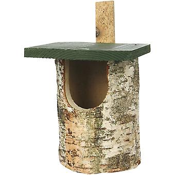 CJ Wildlife Birch Log Nest Box Open Front (fsc)