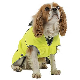 Ancol Muddy Paws Stormguard Fleece Lined Coat & Chest Protector - Hi Vis - Medium