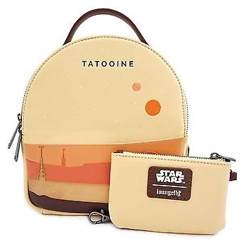 Loungefly X Star Wars Tatooine Convertible Backpack Set