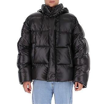Dries Van Noten 205341178900 Heren's Zwart Nylon Down Jacket