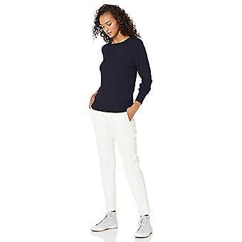 Brand - Daily Ritual Women's Fine Gauge Stretch Crewneck Pullover Sweater, Navy, Medium