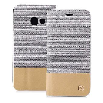 Mobilfordral Jeans for Samsung Galaxy A5 (2017) Protection Denim Mobile Shell TPU Grey