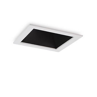 LED 1 lys forsænket Spotlight hvid sort