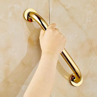 Golden Brass Wall Mount Bathroom Safety Handrail Grab Bar