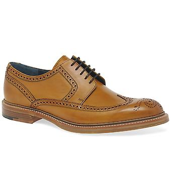 Barker Bailey II Mens Cedar Leather Lace Up Wing Tip Derby Brogues