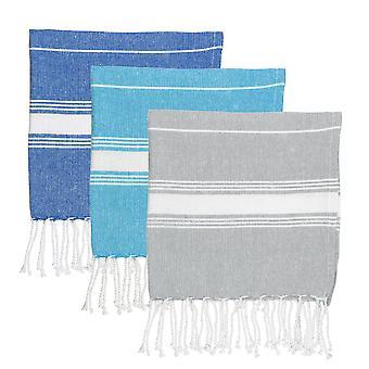 Nicola Spring Children's Turkse katoenen handdoek | Strandbad zwemmen | Hammam Peshtemal Fouta Style - Set van 3 kleuren