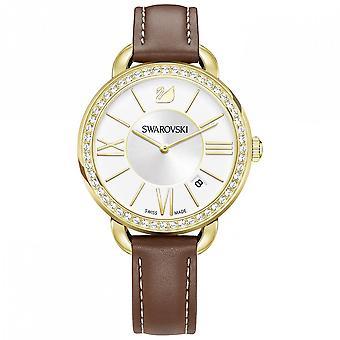 Swarovski Aila dag bruin geel goud Toon horloge 5095940