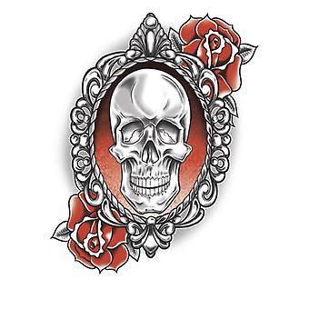 Tinsley Transferts Tatouage temporaire - Goth (Skull & Roses)