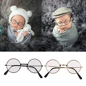 Newborn Baby Flat Glasses Photography Props, Gentleman Studio Shoot