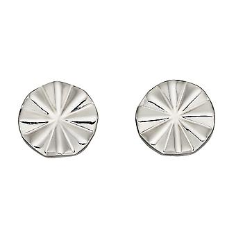 Fiorelli Silver Diamond Cut Beveled Earrings E5889